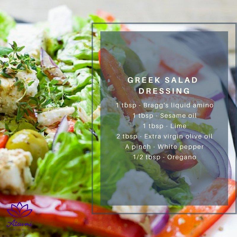 Salad dressing with sesame oil
