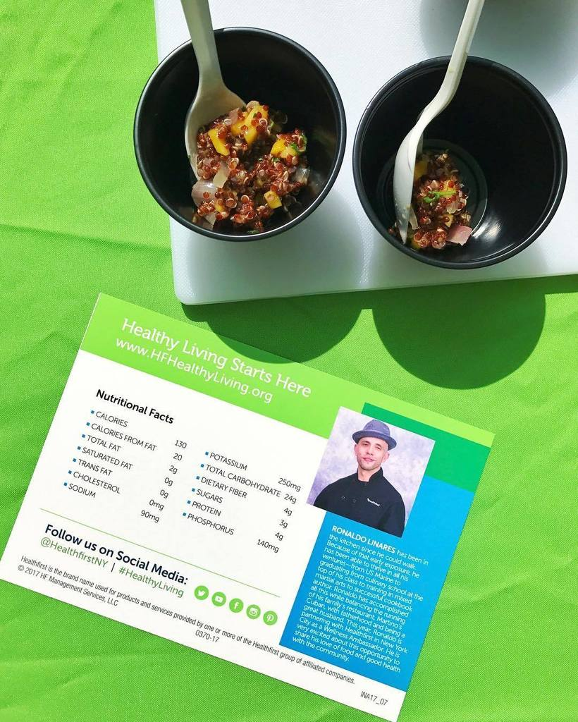 What a delicious treat to have @chef_ronaldo_ quinoa dish for @healthfirstny #healthyliving event in #harlem #genk…  http:// ift.tt/2fr3gTO  &nbsp;  <br>http://pic.twitter.com/QPK5JO4F9V
