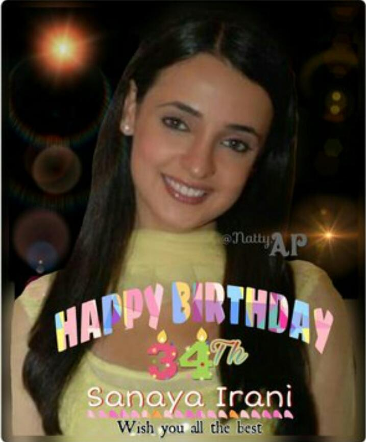 Happy birthday sanaya irani