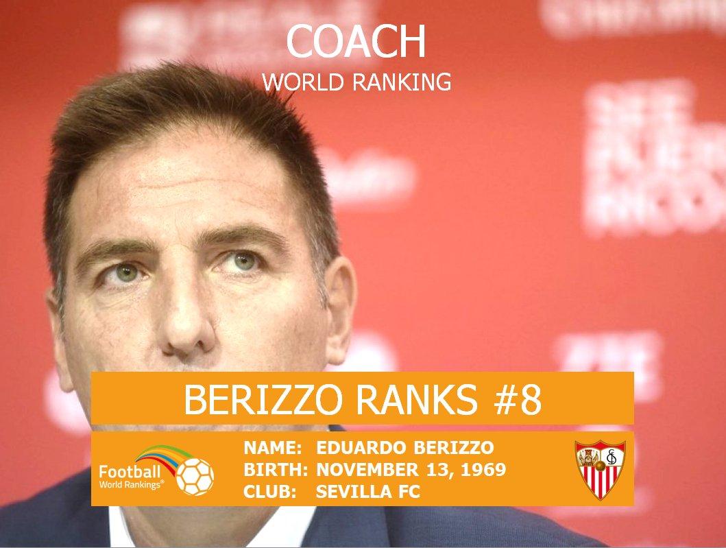Hey #Sevilla fans! Eduardo #Berizzo has climbed to #8 in the Coach World Ranking! Congrats!    https:// goo.gl/4BDcvA  &nbsp;  <br>http://pic.twitter.com/mbGCzfN9Jw