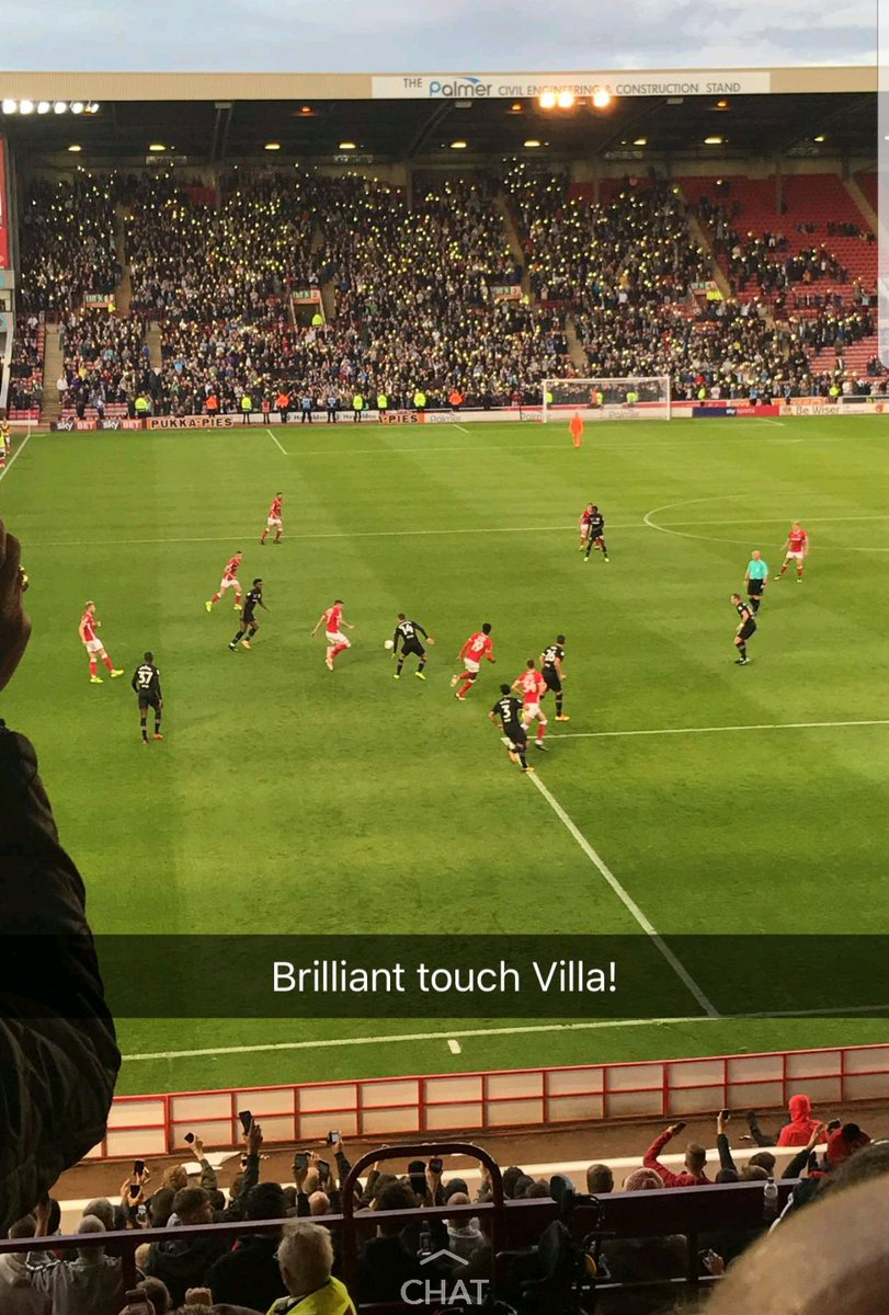 Thank You to the #AVFC fans who joined in for #Barnsleyfc owner Patrick Cryne on 65th minute. Class  #Cancerhasnocolours<br>http://pic.twitter.com/jv7zcYx7Vp
