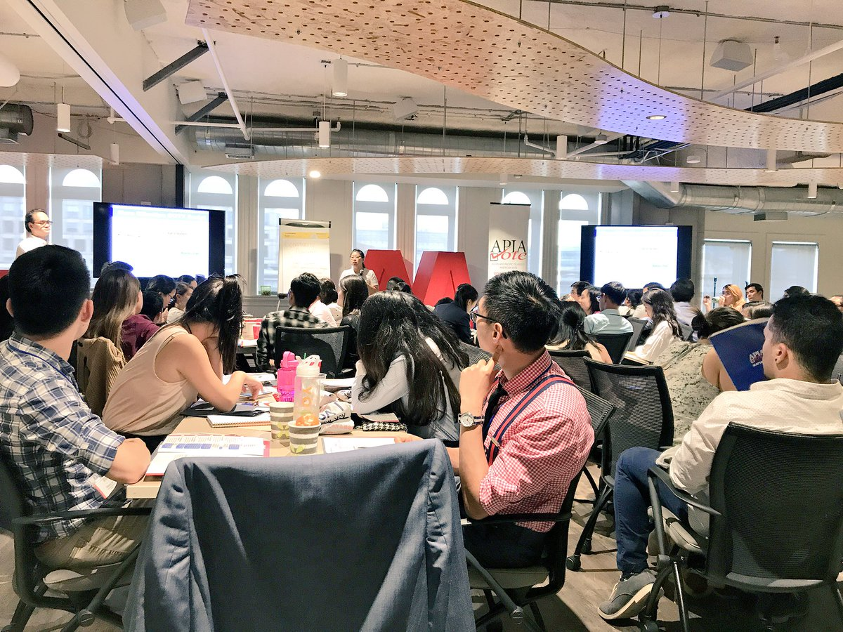 Having such an awesome time at the #APIAVoteSummit to learn more for civic engagement w/ @ACDCNV. Excited to take home new ideas!  #AAPI <br>http://pic.twitter.com/pxiEHnwDVN &ndash; at AARP Hatchery