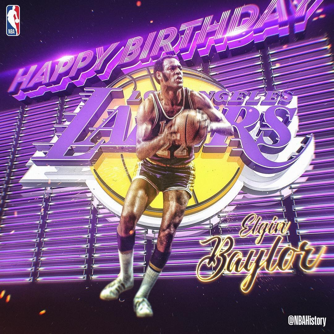 Happy Birthday to NBA Hall of Famer and Laker Legend Elgin Baylor