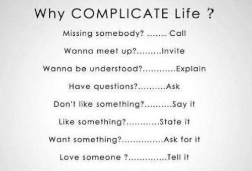 &quot;Why Complicate Your Life?&quot; #ThinkBIGSundayWithMarsha #MakeYourOwnLane #Quote #Believe #BeBrave #NoFear #SelfExpression #SelfConfidence <br>http://pic.twitter.com/6axYoPhlx9