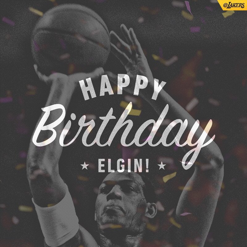 Happy birthday to the one and only Elgin Baylor! FOLLOW
