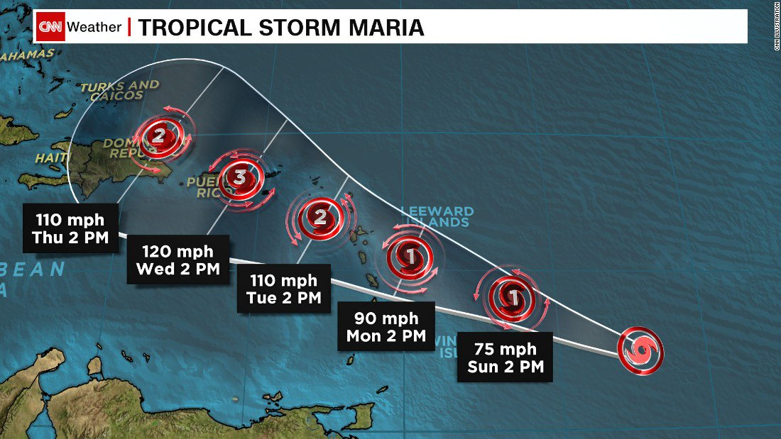 Tropical Storm Maria forms in western Atlantic Ocean, prompting hurricane watch for areas battered by Hurricane Irma https://t.co/VfLwtTKtAh