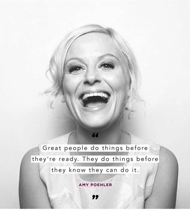 Love this quote.  Don\t care if it\s really hers. Happy Birthday Amy Poehler!