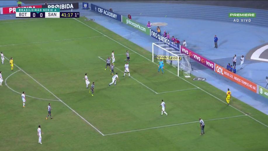 Lindoso faz Botafogo 1 x 0 Santos no Nilton Santos  https://t.co/vDY25iVk79