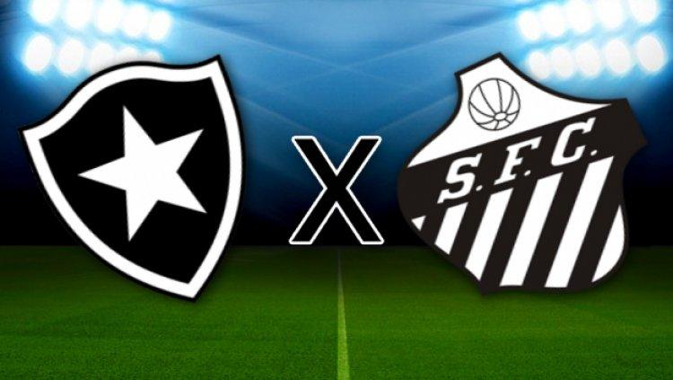 FIM DO PRIMEIRO TEMPO! No Nilton Santos, Botafogo 2x0 Santos. ACOMPANHE: https://t.co/xawTU1eLa8