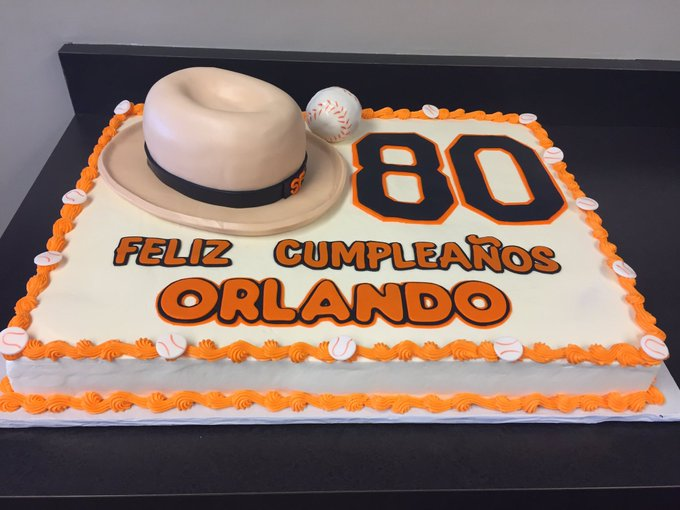 Happy birthday Orlando Cepeda! (Rumor is the hat is a giant Rice Krispie treat.)