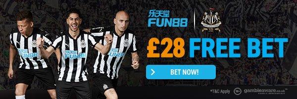 Fun88 £28 free bet