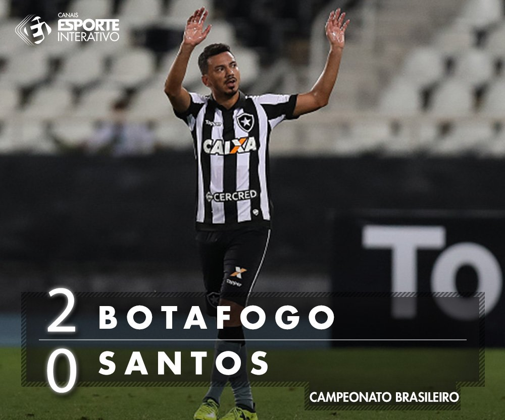 FIIIIM DE JOGO! Com gols de Lindoso e Guilherme, o Botafogo vence no Nilton Santos! #BOTxSAN Baixe nosso app: https://t.co/4eFNvaShAt