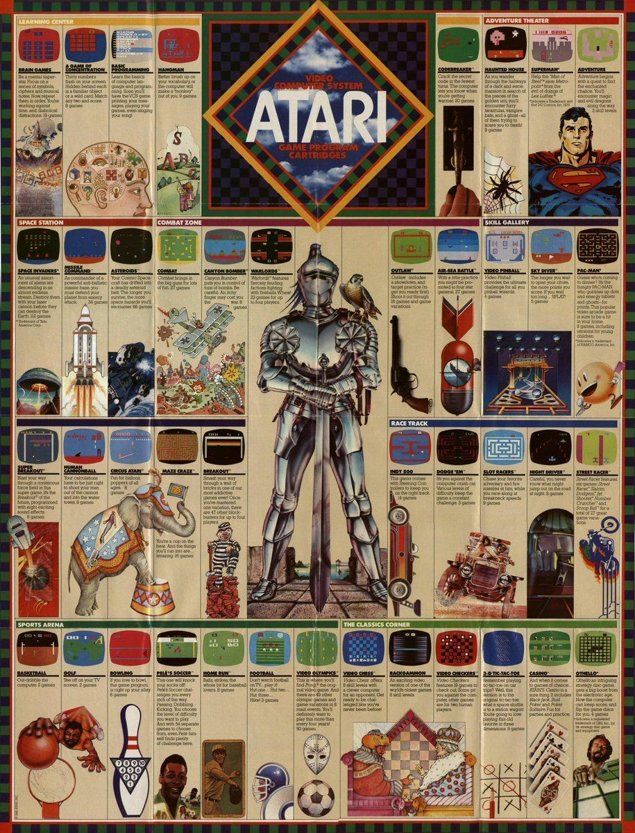 1982 Atari fold out catalog. https://t.co/LWLzIufoqS