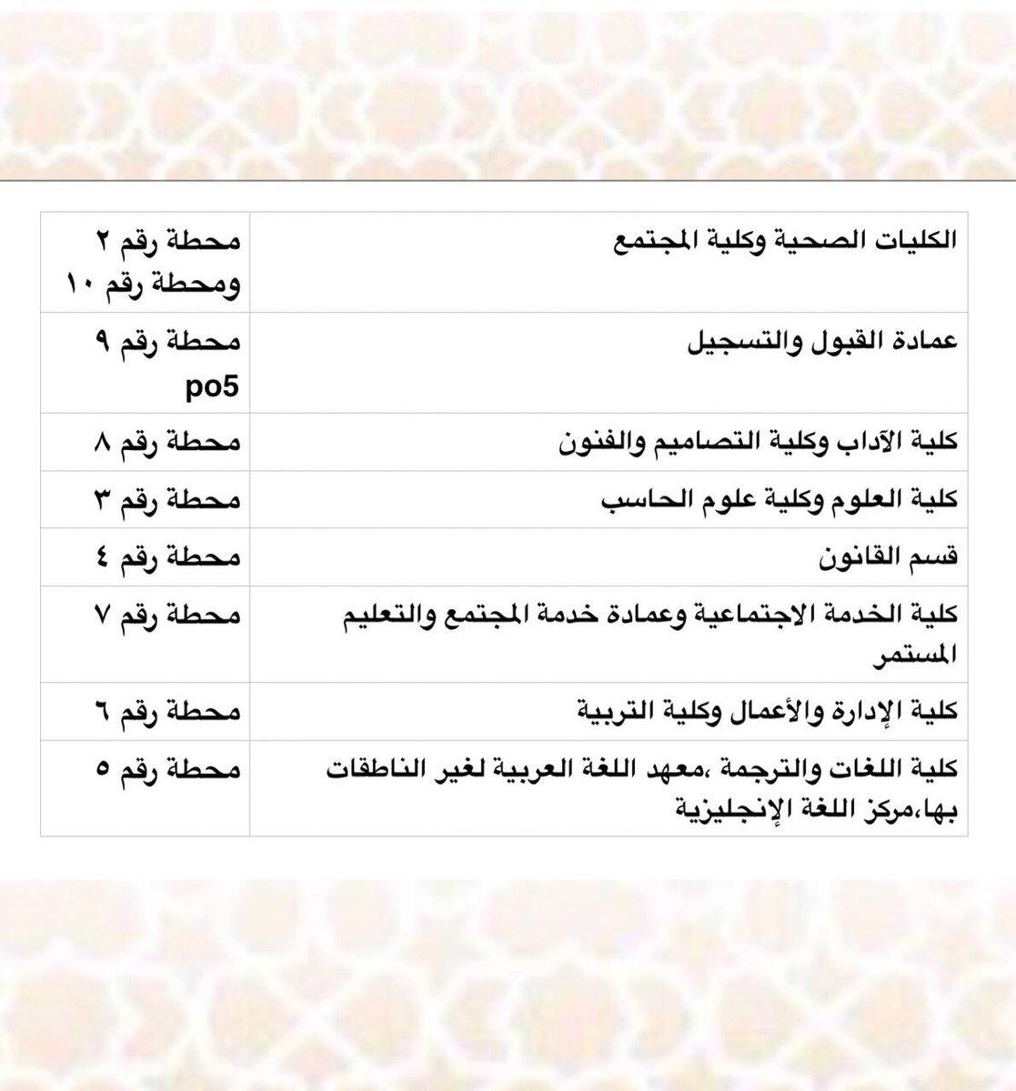 جامعة الأميرة نورة Na Twitteru عزيزتي الطالبة بإمكانك التوجه إلى محطة كليتك مباشرة كما هو موضح جامعة الأميرة نورة Pnu
