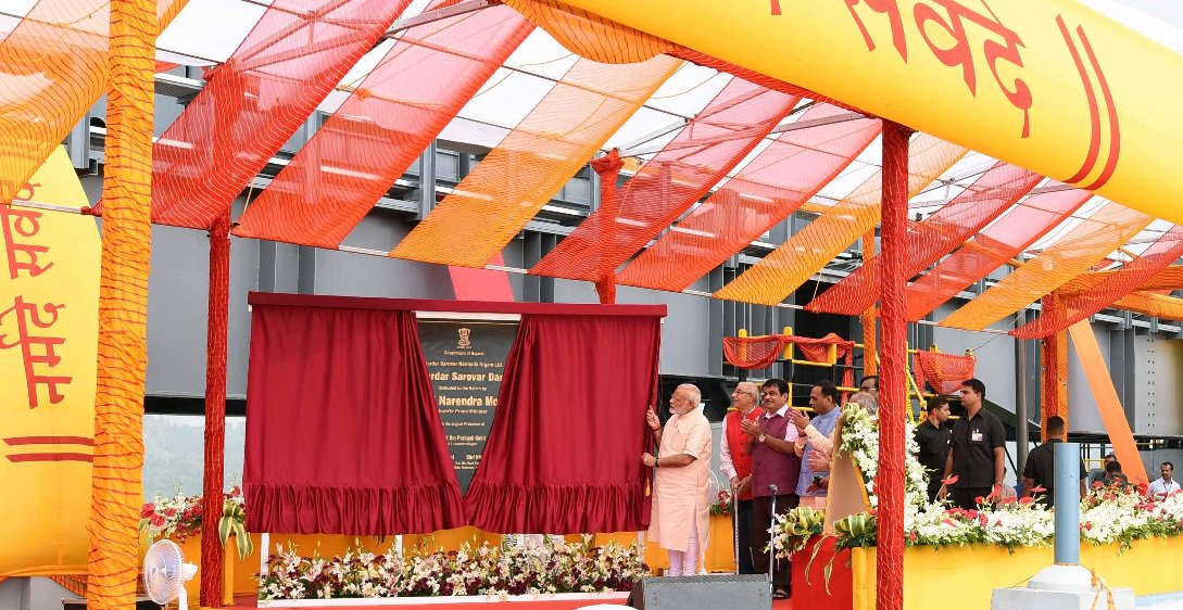 PM Modi dedicates Sardar Sarovar dam, country's third highest concrete dam, to people on his birthday