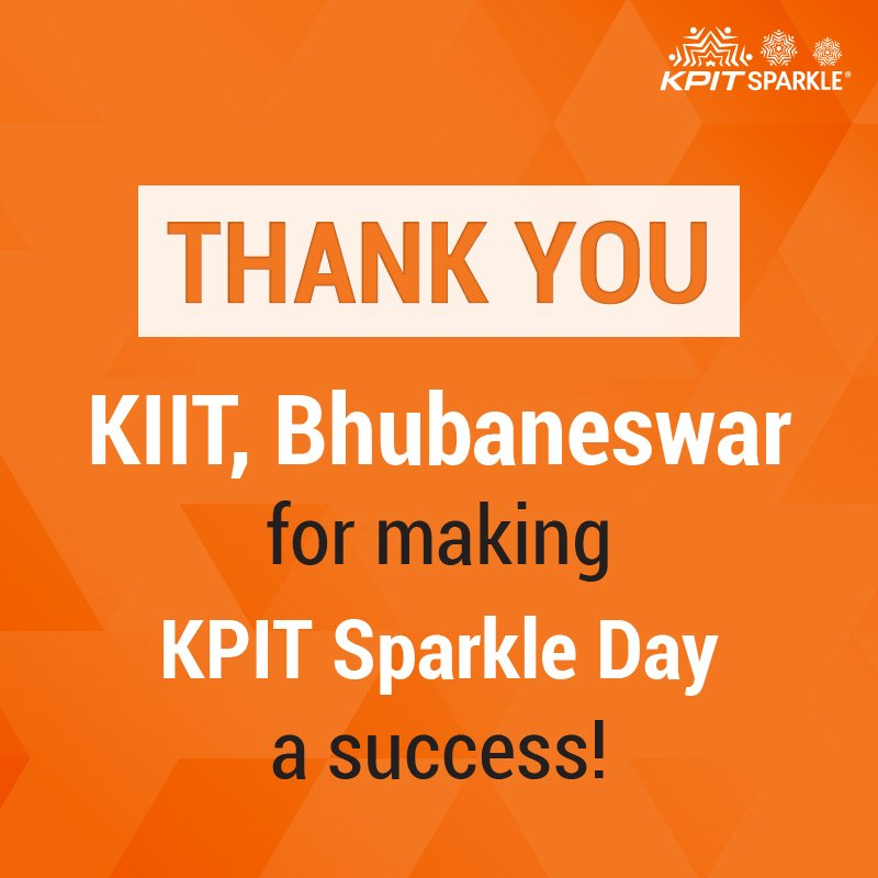 Thank you KIIT, Bhubaneswar for the overwhelming response &amp; for making #KPITSparkle Day a success  https:// goo.gl/hMvLbJ  &nbsp;   #tech #innovation<br>http://pic.twitter.com/mlZATnmRPz