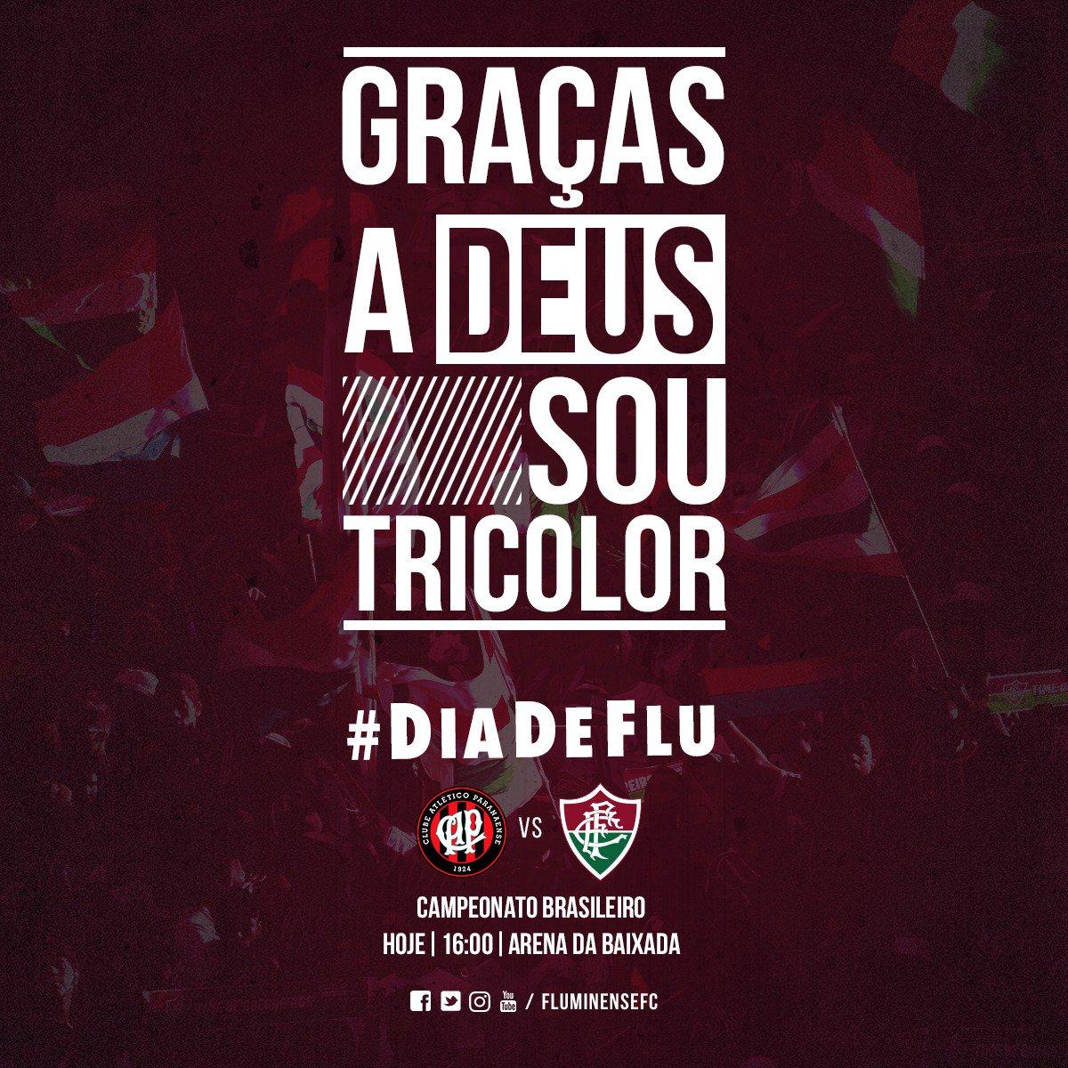 'Vamos Fluzão, vamos ganhar 🎶' Hoje é dia de buscar mais uma vitória fora de casa no Brasileirão. Hoje é #DiaDeFlu! 🇮🇹🇭🇺