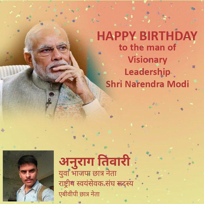 Happy Birthday to the man of visionary leadership Shri Narendra Modi