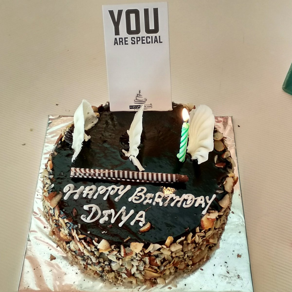 Midnightcakecom on Twitter Happy Birthday Divya Yummy Chocolate