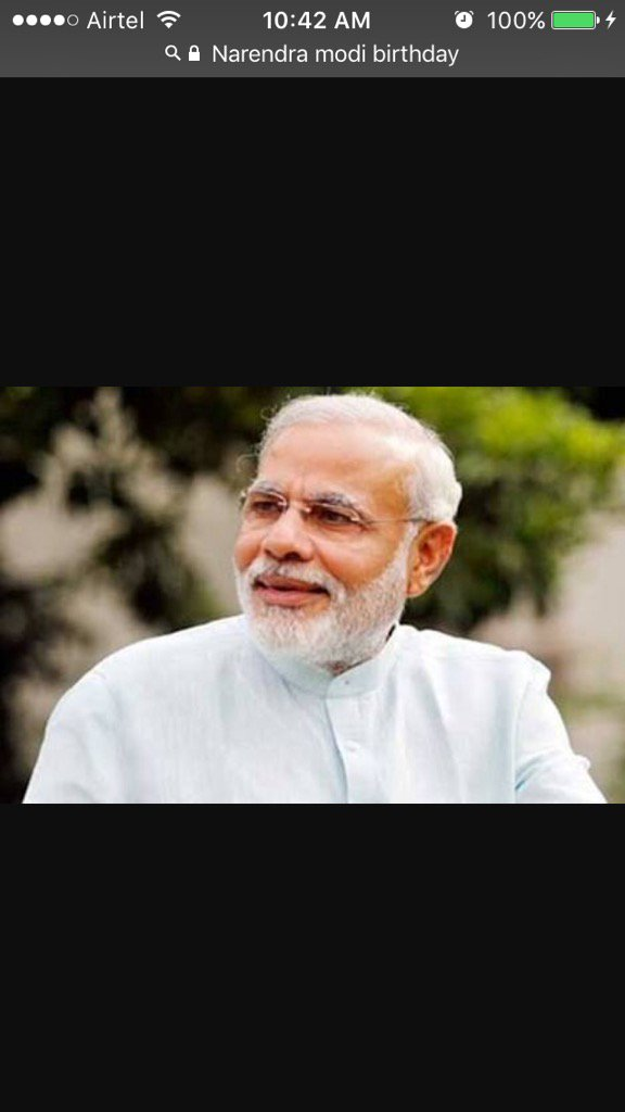 Happy birthday prime minister Narendra Modi, You are the best prime minister I have ever seen