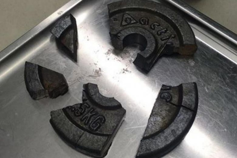 German man's penis gets stuck in gym weight plate, rescue effort takes 3 hours #swole https://t.co/Te43RTagnQ