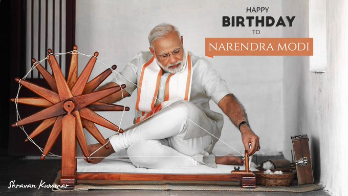 A very Happy Birthday to our P.M Narendra Modi the pride of our nation