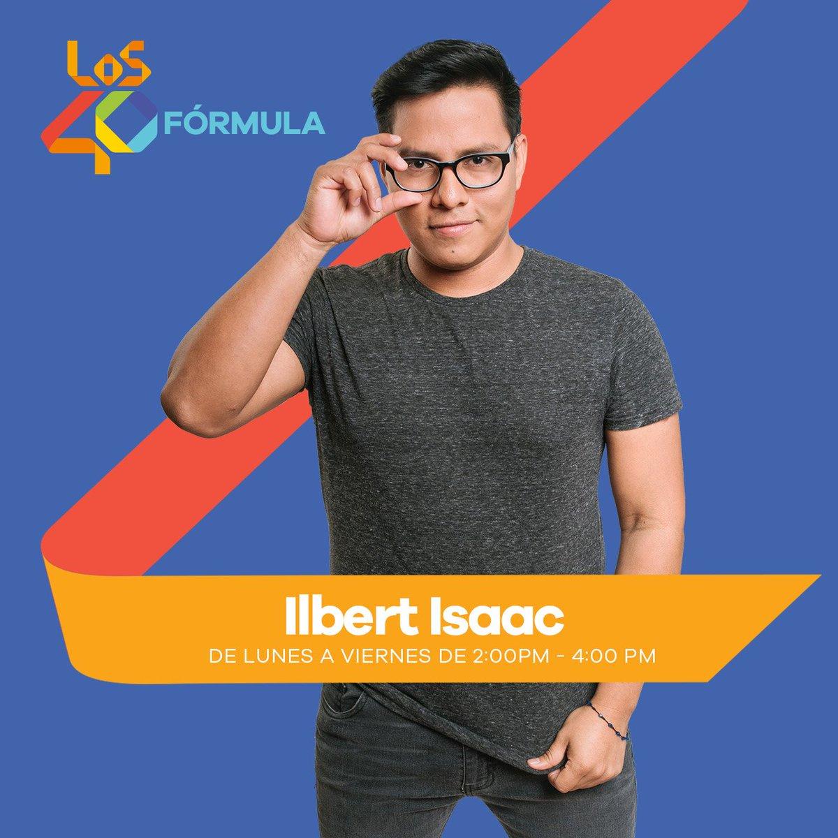 Llega @Ilbertisaac a cabina! Pídele tu canción favorita al #Whatsapp40 62616309