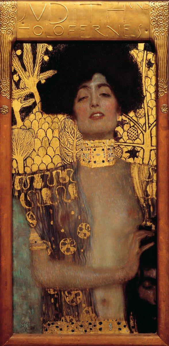 La bellezza di un sorriso è mescolare in giuste proporzioni il finito e l'infinito  Platone  #BuonaDomenica   Klimt Giuditta   Olio su tela