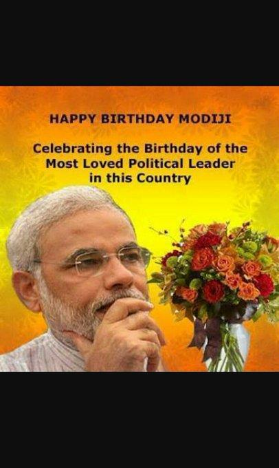 Happy birthday prime minister Narendra modi ji