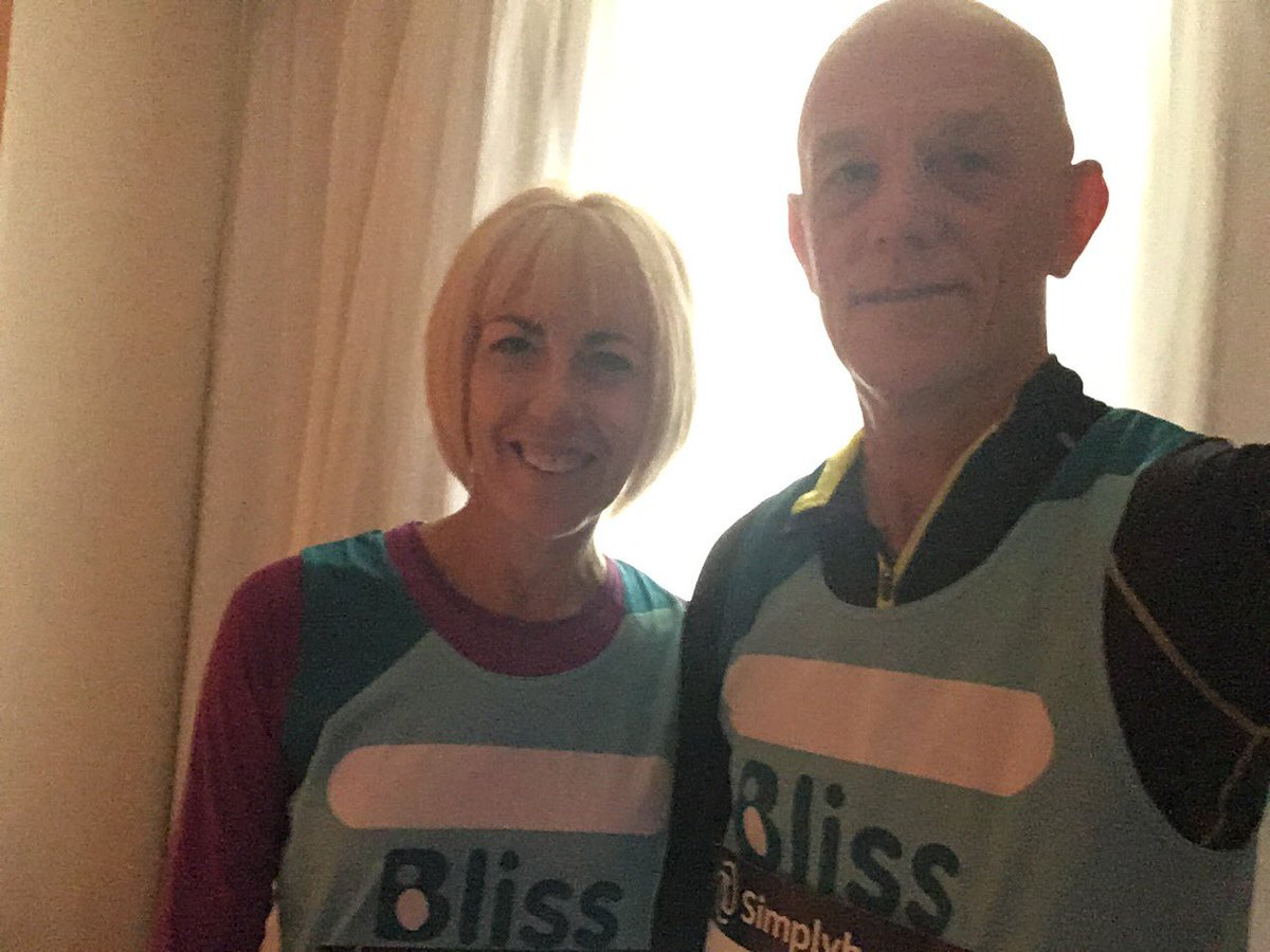 Kim&amp;Alan Bristol half 4/4 for Bliss ready to go go #neonatal <br>http://pic.twitter.com/2rUF9m4bSk
