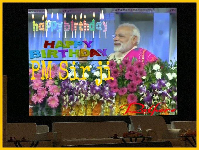 @ narendra modi .Hon.PM Sir ji Happy Birthday May Wish u God your healthy long life Sir ji
