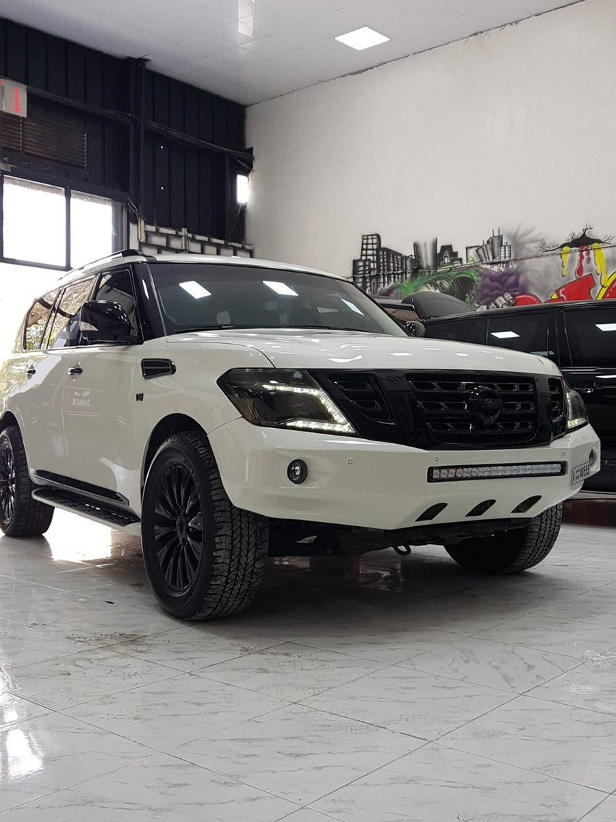 Joker Automotive On Twitter Nissan Patrol Y62 Black Edition Chrome Deleted Fiberglass Bumper And Led Bar