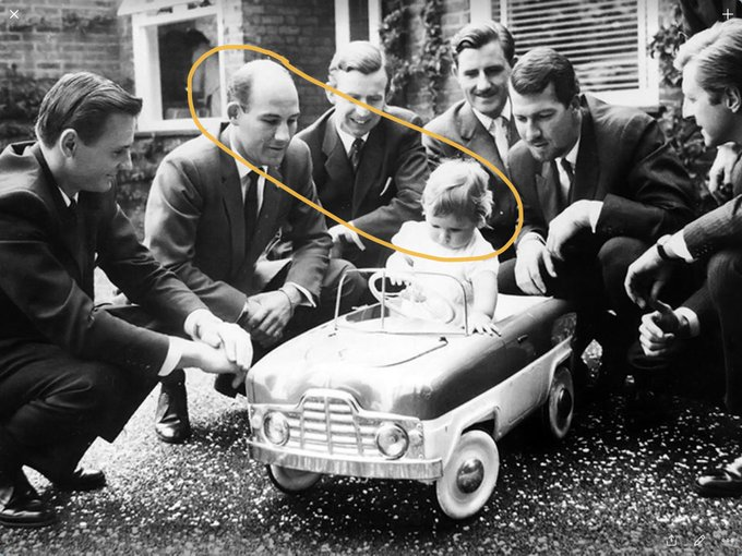 Happy Birthday Sir Stirling Moss and Damon Hill enjoy the -