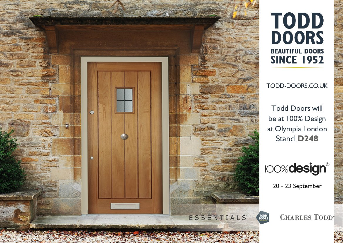 100% design show is soon upon us it\u0027s going to be a great event and we would love to see you all there stand D248! //ow.ly/mtHM30dTSKK ... & Todd Doors (@ToddDoors) | Twitter