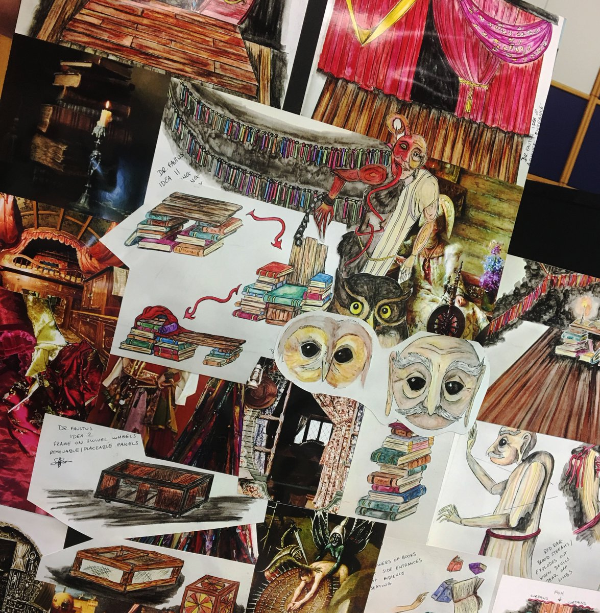 Rule 1: You&#39;ve got a have a good #moodboard to get the creative juices flowing! Are you ready for #DrFaustus?!  https:// goo.gl/UFnSab  &nbsp;  <br>http://pic.twitter.com/EI2nGVgrCI