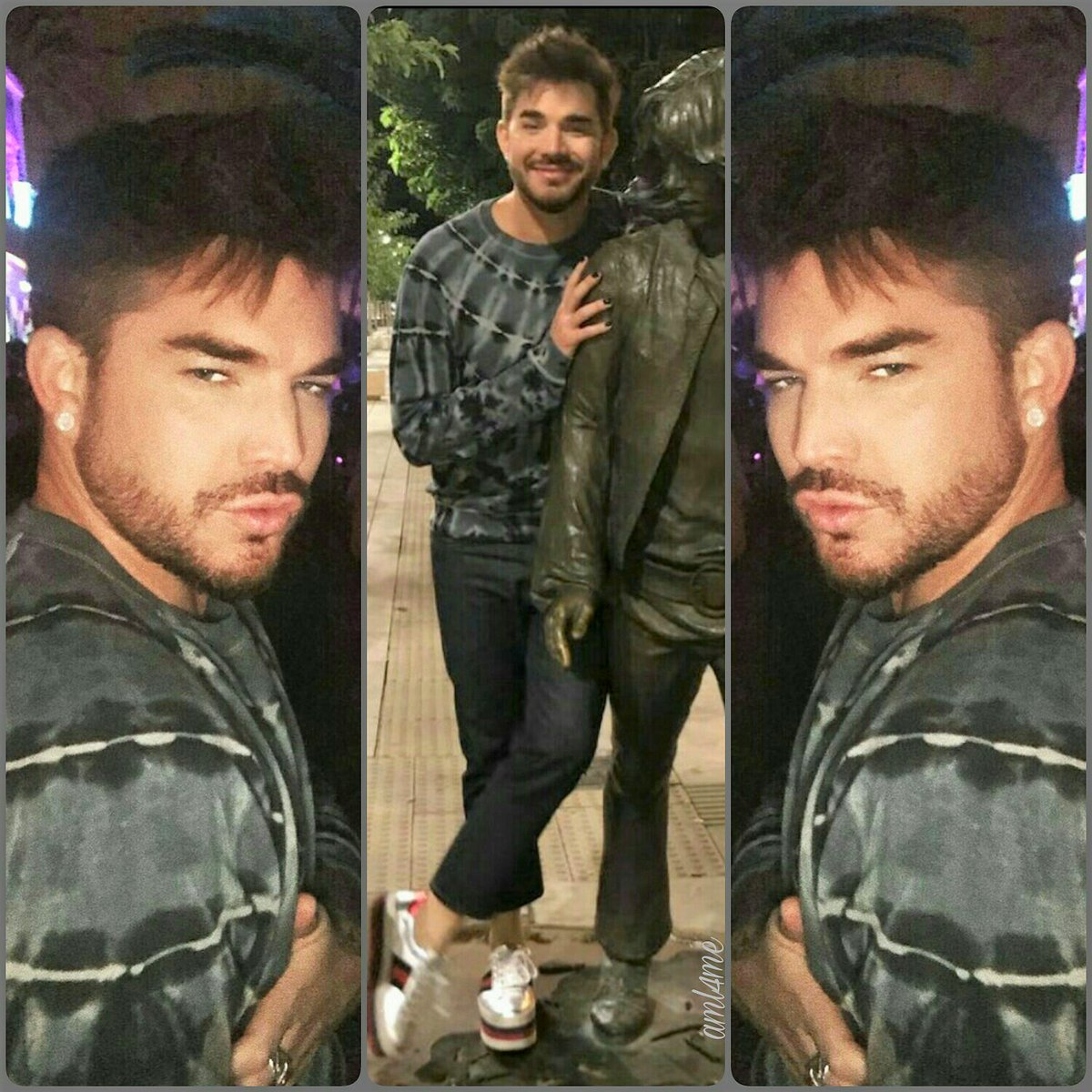 From hotaf to adorably cute in a fraction of a second - and back again  #AdamLambert #ibiza2017<br>http://pic.twitter.com/3KNKrwUpEF