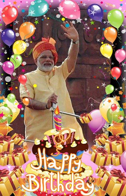 wish u a very very very happy bday to our dynamic prime minister Shri Narendra modi ji
