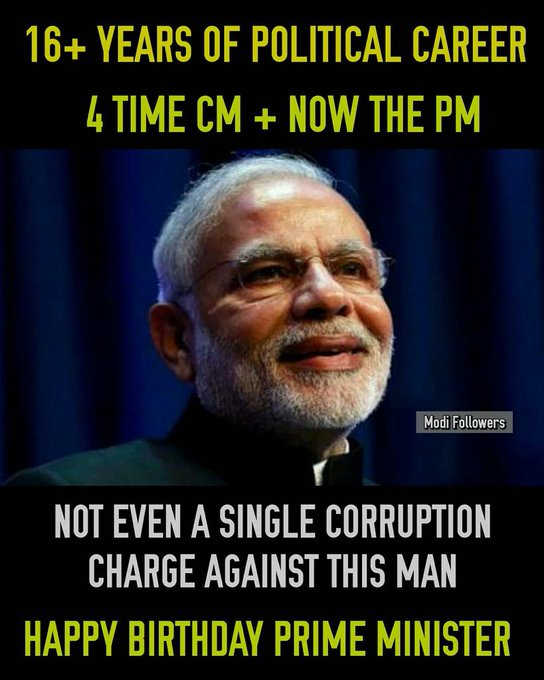 Happy Birthday shri Narendra Modi ji.. Jai hind...