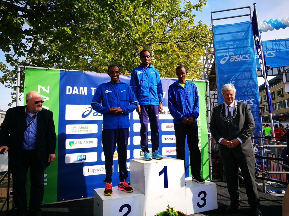 Birhanu Legese, Yenew Alamirew and Jiksa Tadesse take the top three positions in the @damtotdamloop! https://t.co/P7wYfHLuRx
