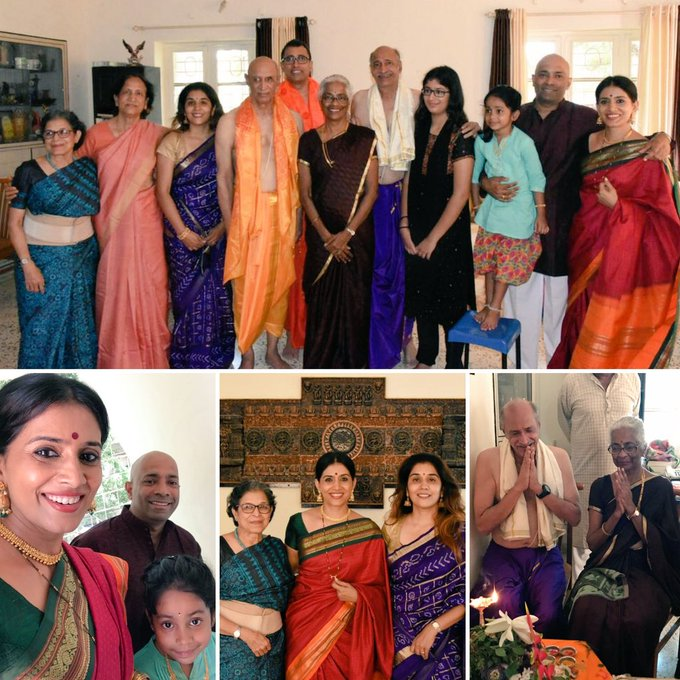 Family time 😍😍😍 Our annual Anant Pooja at Shrirampur🙏lovely time spent together 💚with Alkatai Nivsarkar & the Pantvaidyas🤗😘😘 #familytime https://t.co/xt5MtLTyVE