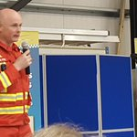 Dr Phil Hyde from @dsairambulance sharing his insights and experience at Henstridge Airfield today.