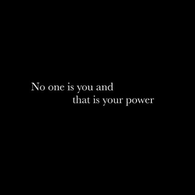 &quot;No one is you, and that is your power.&quot; #selfconfidence #power #breakthemould #quote<br>http://pic.twitter.com/s4qP4VlINI