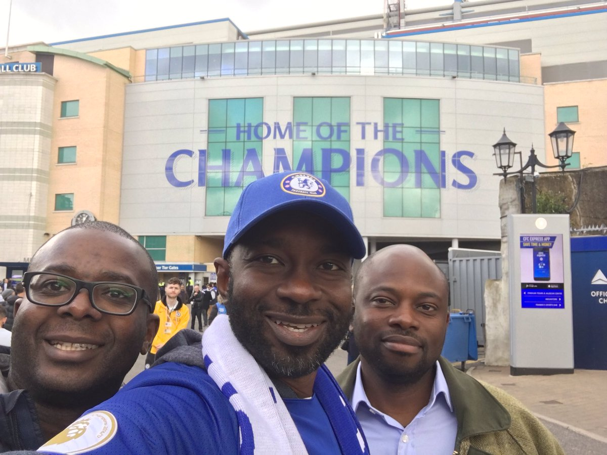 And we are here @ChelseaFC!!! Let's do this!!