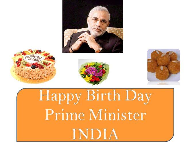Happy Birthday to Hon\able PM of India Narendra Modi