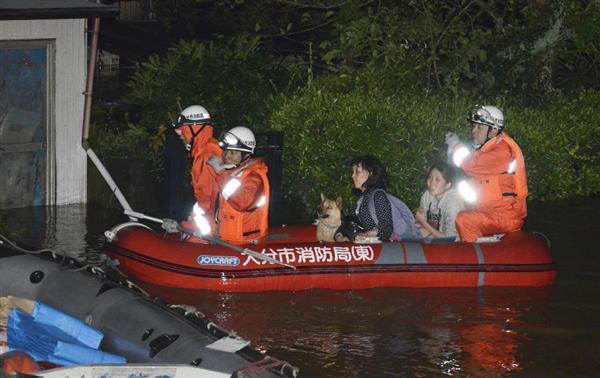 大分、宮崎の避難指示13万人超に 佐伯市では一部孤立も sankei.com/west/news/1…