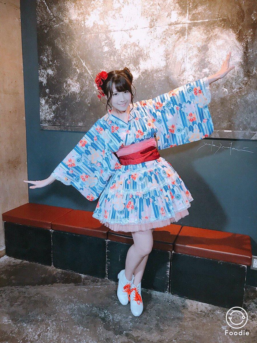 #A応P ワンマンの秋祭り衣装ー(*´ω`*) 和風ドレスだよー。 こういう浴衣もいいよね。 久しぶ…