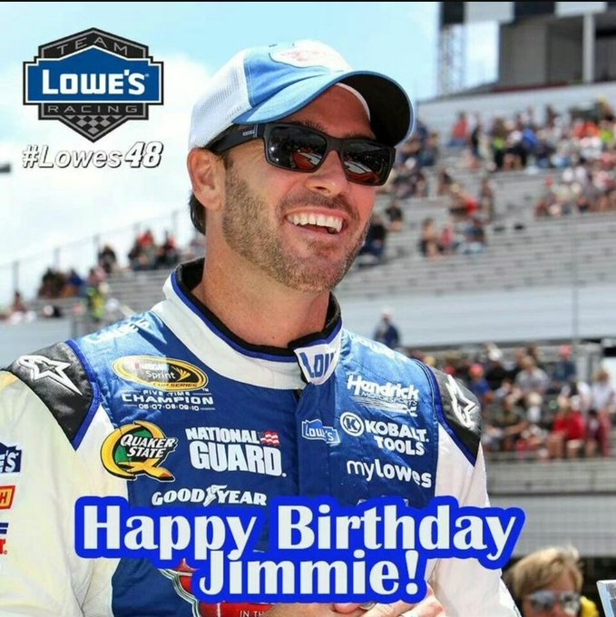 Happy birthday to you Jimmie Johnson!