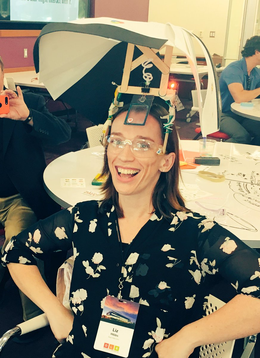 &quot;Adaptive augmentation&quot; glasses we created at #DesigningLibraries. We also created that terminology.  #iamalibrarian <br>http://pic.twitter.com/GMJgc2MkNV
