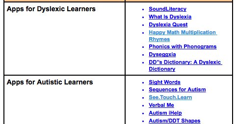Ipad Apps For Learners With Dyslexia >> Book Creator Team On Twitter Updated Chart Of The Best Ipad Apps