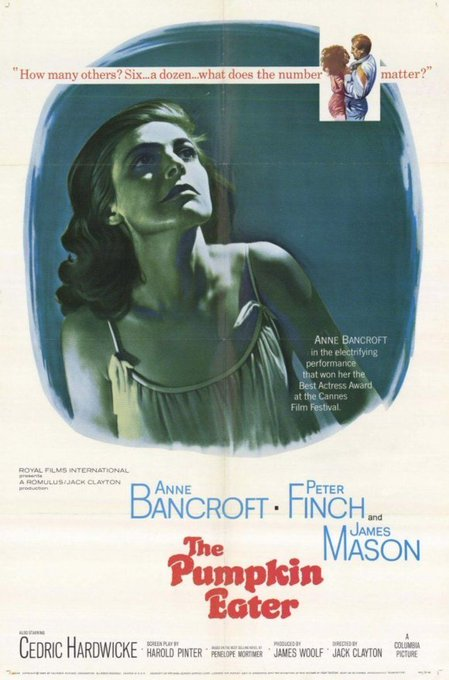 Happy birthday to Anne Bancroft - Brilliant in the underseen THE PUMPKIN EATER - 1964
